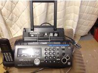 Panasonic KX FC 265 fax telephone answering machine copier, phone book,intercom ,caller ID, v.g.c