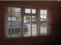 Brand new still in the box wooden slatted blinds