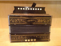 Very rare Hohner Vienna Pokerwork One Row Melodeon Button Accordion in C sell or swap trade guitar