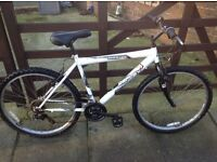 Mans or ladies raligh white 18sp mountain bike £25
