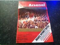 Arsenal v Bristol city 1977/78 football programme,nice condition.