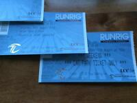 2x Runrig full weekend camping tickets with parking