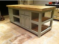 Freestanding kitchen Island massive
