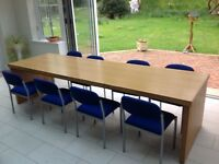 8 seater Board room table and chairs