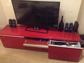 Red Ikea TV Unit for Sale, good condition