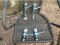 Taps- Selection of 3 Unused & 1 used.