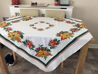 Christmas tablecloth, placemats and napkins