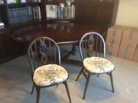 Ercol old colonial dining room furniture