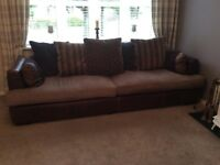 BARKER AND STONEHOUSE SOFAS LEATHER AND FABRIC 4 & 3 SEATERS