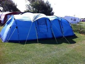 Khyam Ontario 8 person tunnel tent & carpet