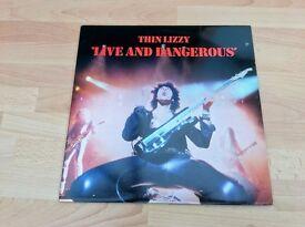 "Thin Lizzy ""Live and Dangerous"" Vinyl LP 1978"