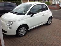 White 2012 plate Fiat 500 for sale