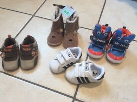 Baby shoes - size 6-12 months INCLUDES BRAND NEW ADIDAS TRAINERS