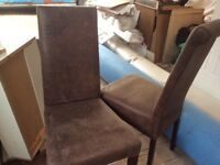 Very comfortable brown leather chairs