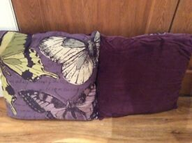 Purple, Green & Grey Cushions