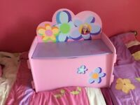 Barbie Kids Wooden Toy Box Good condition