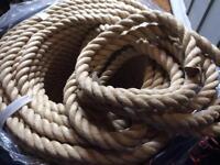 24mm Polyhemp Rope - NEW - sold @ £2.50 per metre