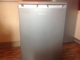Silver under counter fridge