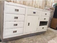 Millersdale by Paul retro aluminium sink base unit