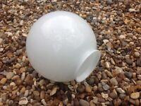 White Glass Ceiling Fan Globe Lampshade