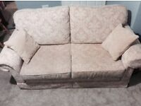 3 seater sofa and matching armchair with cushions in excellent condition