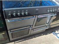 black electric range cooker ceramic 90cm...free delivery