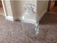 Glass Demijohn (One Gallon) Beer, Wine Making, Glass Bottle Jar Money