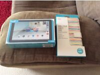 Hudl 2 Tablet Turquoise with case BOTH BRAND NEW AND SEALED