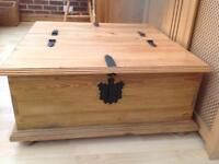 Solid Pine Coffee Table with lift top storage.