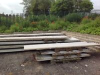 Box Profile roofing sheets. Used buy but excellent condition. Ridges and roof lights also available