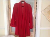 Ann Harvey stunning Red Coat Size 16