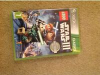 Lego Star Wars 3 classic X box 360 game