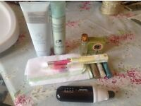 liz earle cleanser and body cream and other items of makeup etc