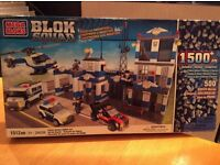 Mega Bloks 1500 piece Police Station, Vehicles and Figures. Excellent cndition. Similar to LEGO.