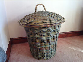 LARGE HEAVY DUTY WICKER LAUNDRY BASKET FROM THE PIER COMPANY