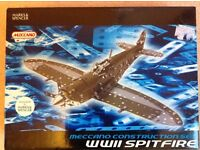 Brand new, never been opened. Meccano set of WW2 Spitfire. Rare edition over 300 parts