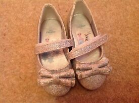 Disney frozen silver sparkly shoes, worn once -ideal for christmas