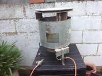"""Bullfinch gas """"dustbin heater"""". Suitable for building site, garage or space heating."""