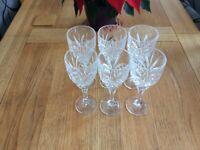 Box of six lead crystal glasses