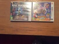 Nintendo 3 DS games Disney Mickey Mouse Games