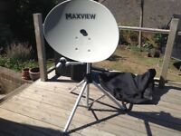 Maxview portable satellite dish and tripod stand