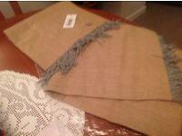 Alpaca Exclusive Fishbone Plaid size130x180cm New wrapp/shawl