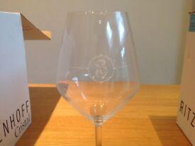 12, 75cl new Ritzenhoff Vivien Burgundy glasses