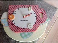 Mamas and papas Gingerbread range wooden Wall Clock