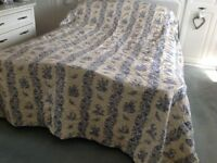 Blue Toile John Lewis Large Kingsize Quilted Throw
