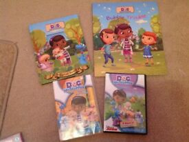 Doc mcstuffins small bundle books and DVDs