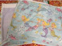Mermaid curtains, fully lined