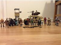 Predominantly corps army figures and vans