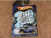 Hot Wheels Delta Blue model collectible on card 32 Ford Sedan