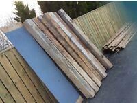 Timber sleeper posts 6x4